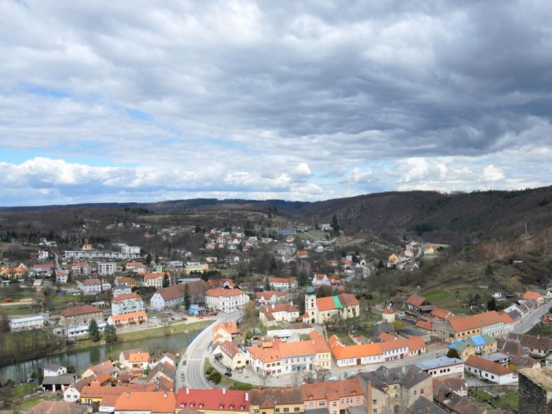 Pohled na Vranov nad Dyjí ze zámku