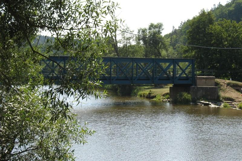 Řeka Dyje v Podhradí nad Dyjí - přítok Vranovské přehrady