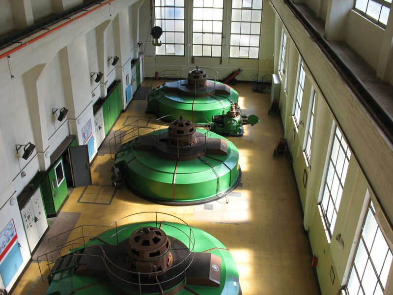 Vodní elektrárna Vranov - generátory